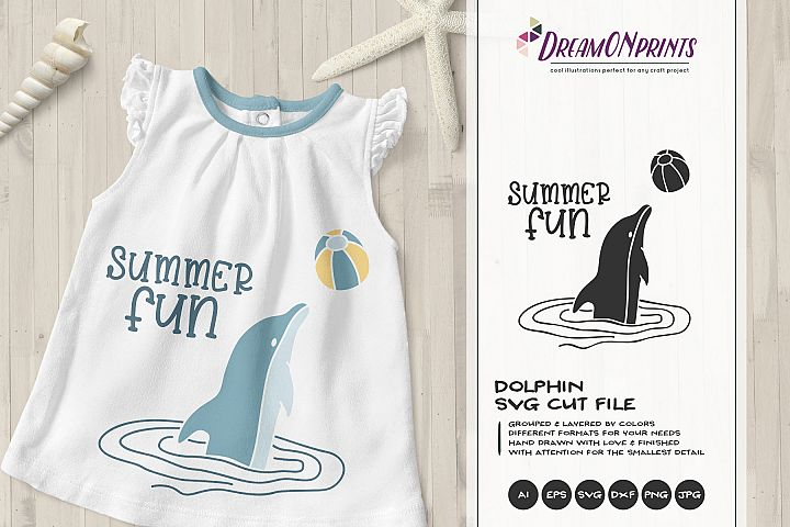 Summer Fun | Dolphin SVG | Children SVG File