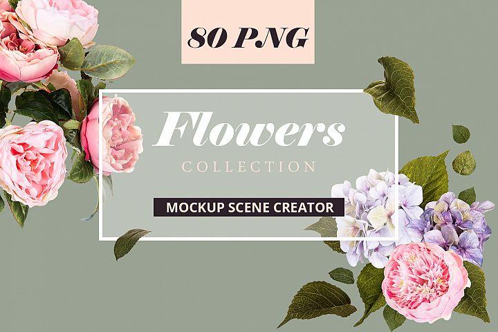 Flowers Scene Creator Mockup Set