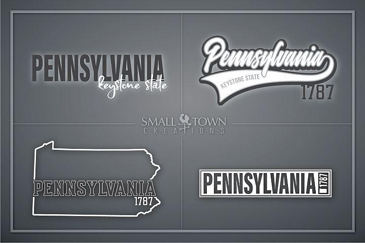 Pennsylvania, Keystone State - slogan, PRINT, CUT & DESIGN