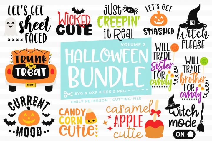 Halloween Bundle 12 Designs Volume 2 SVG DXF EPS PNG