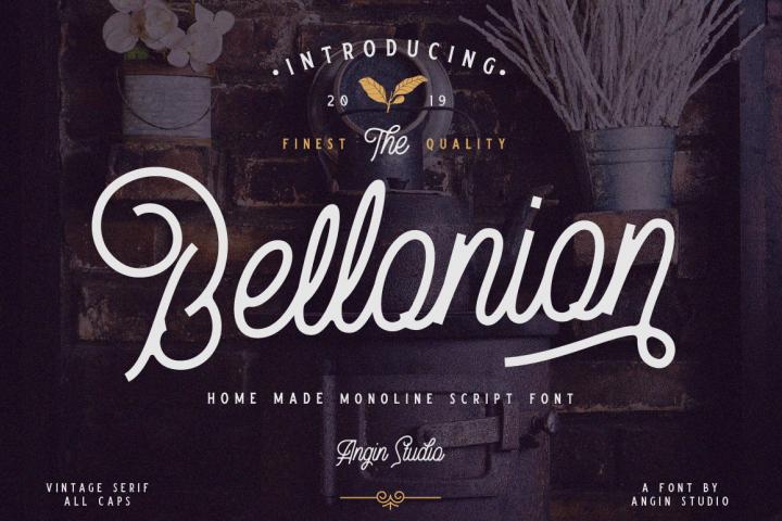 Bellonion Monoline Script