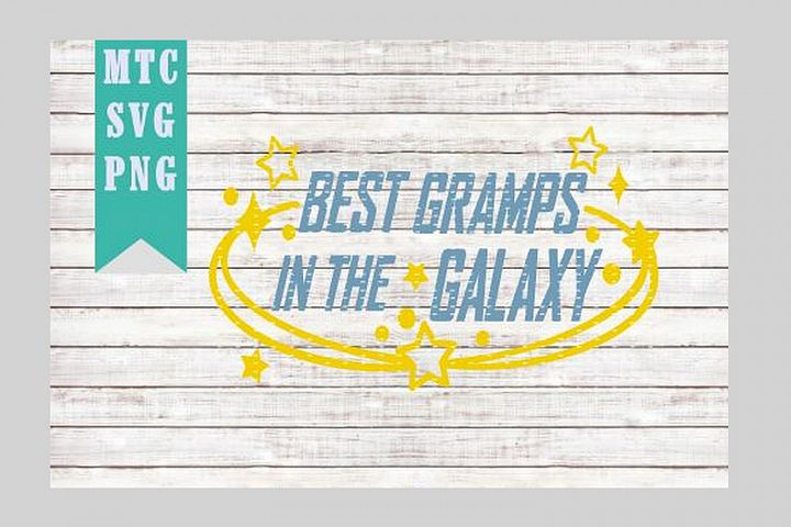 Best GRAMPS in the Galaxy Design #02 Embellishment SVG Cut