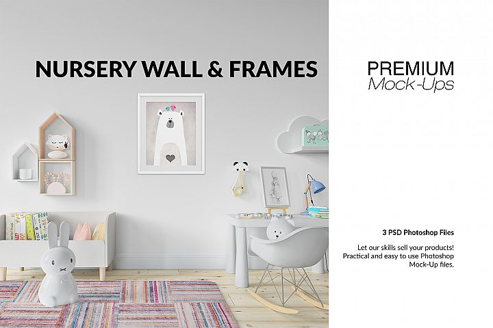 Nursery Frames Carpet & Wall Set