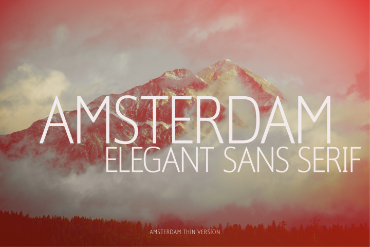 Amsterdam Thin Versionl Elegant font sans serif