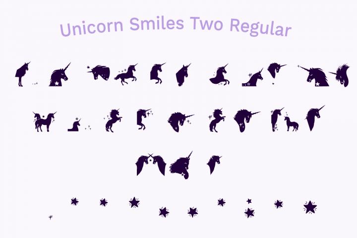 Unicorn Smiles Layered Font plus Bonus Files | Unicorn Font example image 5