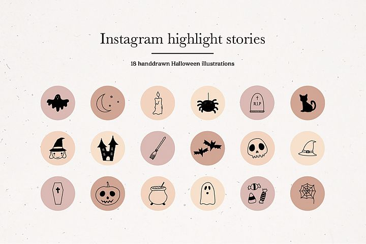 Instagram Halloween Story Highlights Icons Covers