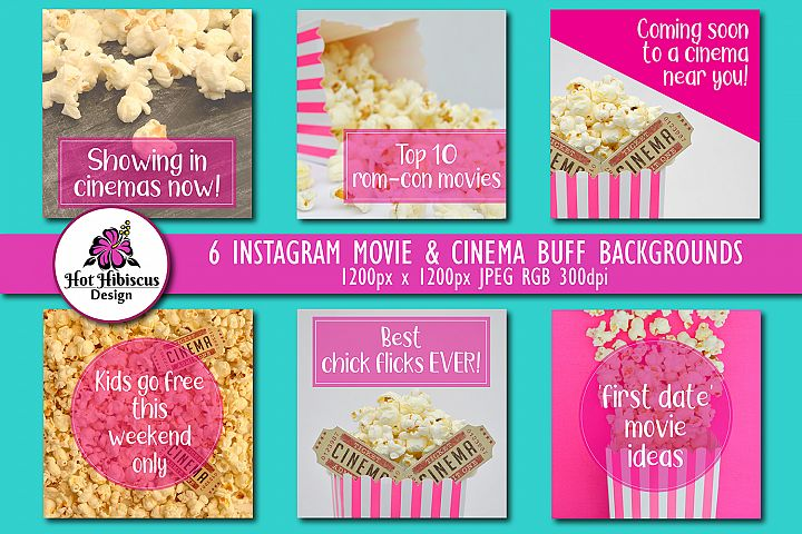Cinema Movie Themed Instagram and Facebook Backgrounds