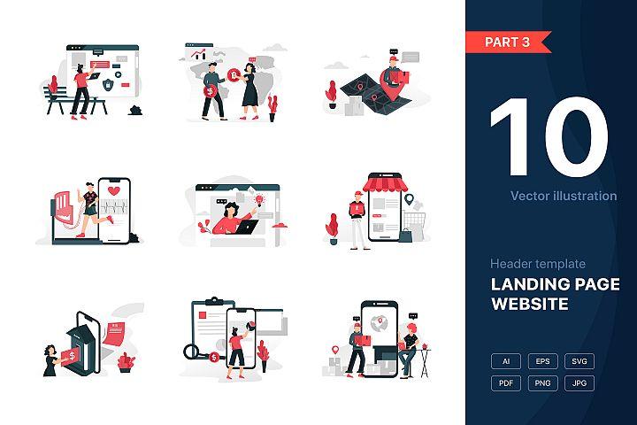 Website illustrations set - Part 03