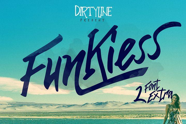 Funkiess - Display Typeface + Bonus
