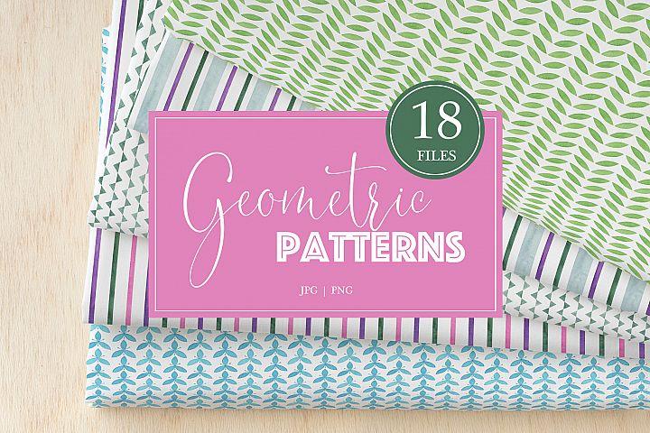 Watercolor Geometric Patterns