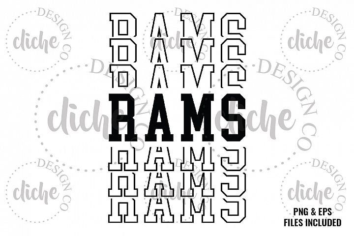 Rams Sublimation Design & Bonus Vector Files