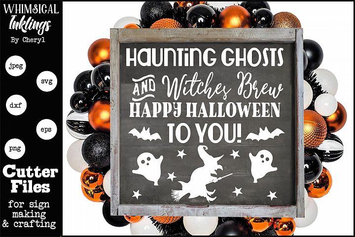 Haunting Ghosts-Halloween SVG