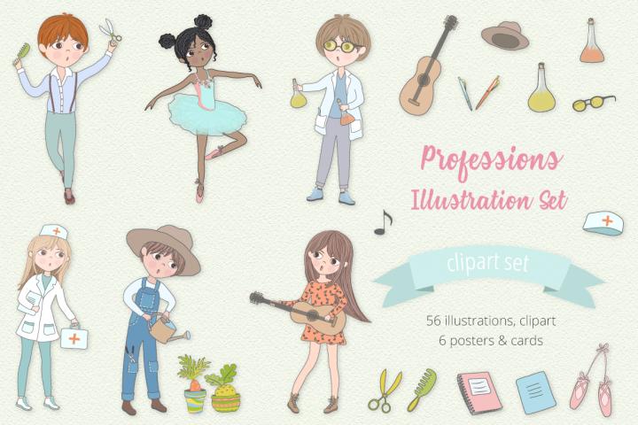 Professions Illustration Set