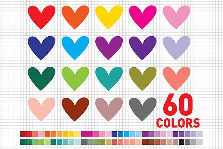 Heart / Love / Heart Clipart / Valentine Heart Clip Art / Valentines Day / Heart Graphic and Illustrations