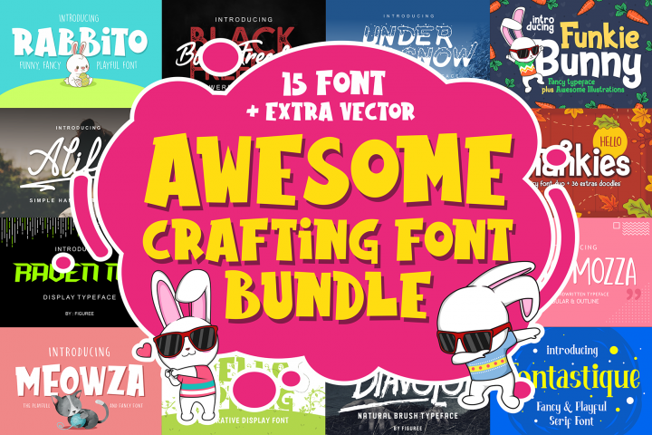 Awesome Crafting Font Bundle