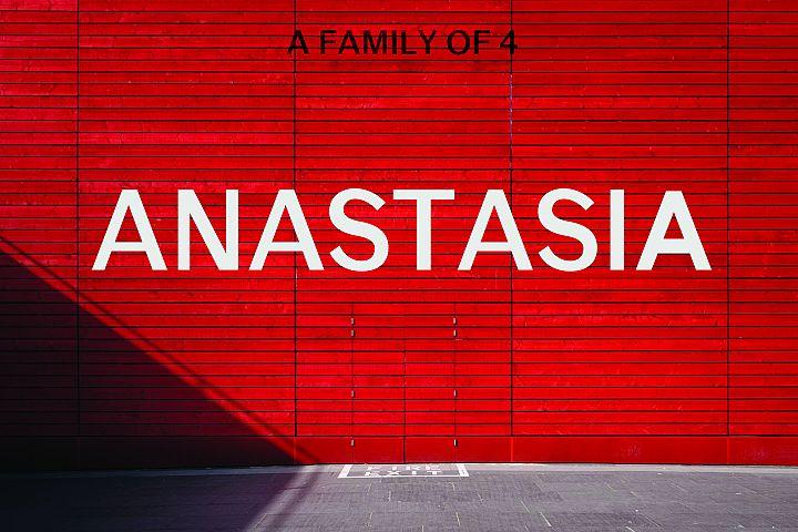 ANASTASIA, A modern typeface