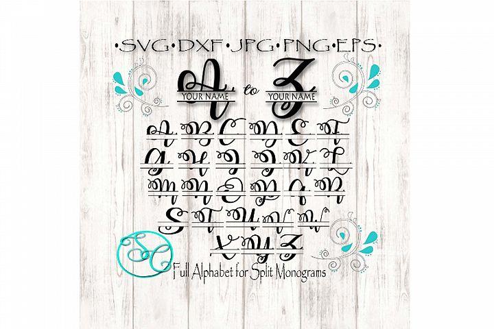 Swirly Split SVG Font