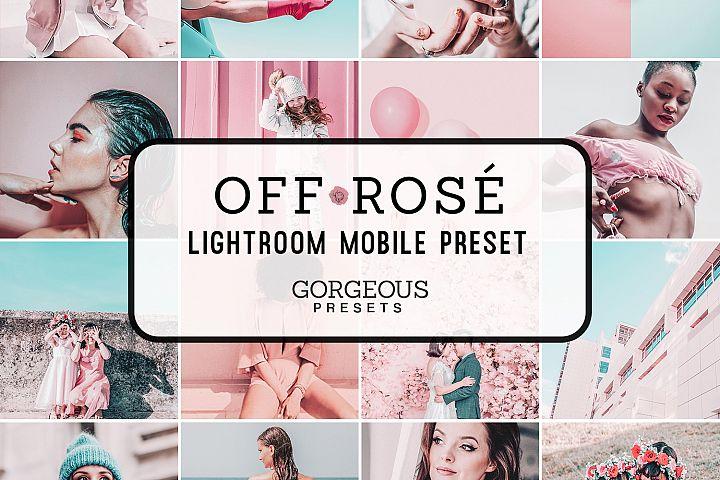Mobile Lightroom Preset OFF ROSE