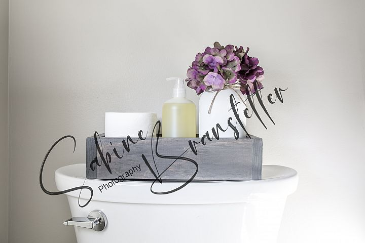 Styled Stock Photo Toilet Paper Holder Storage Box Mockup