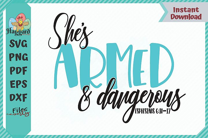 HHD Shes Armed and Dangerous SVG