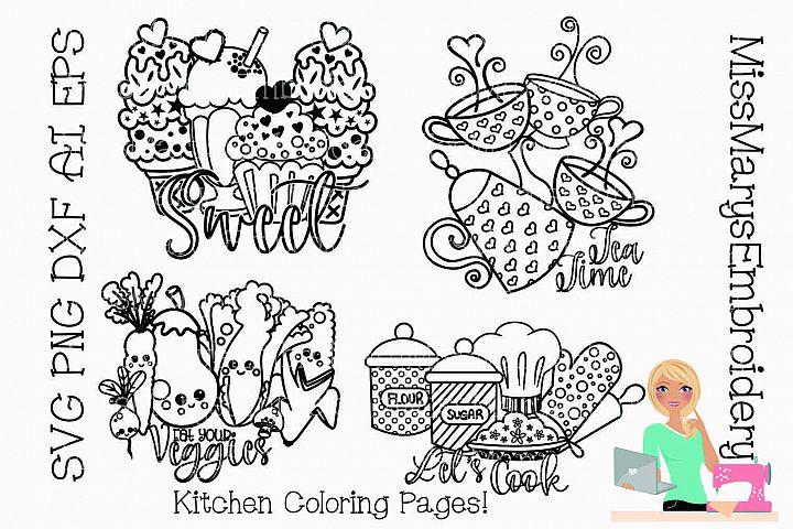 Kitchen Coloring SVG Pages   Coloring SVG   Kitchen SVG