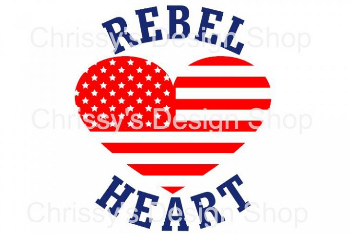 Rebel Heart svg, dxf, eps