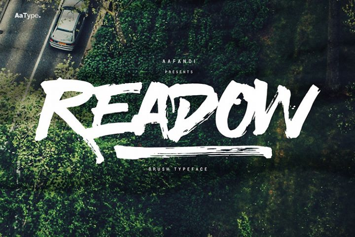 Readow Brush Font with Free Vector Pack