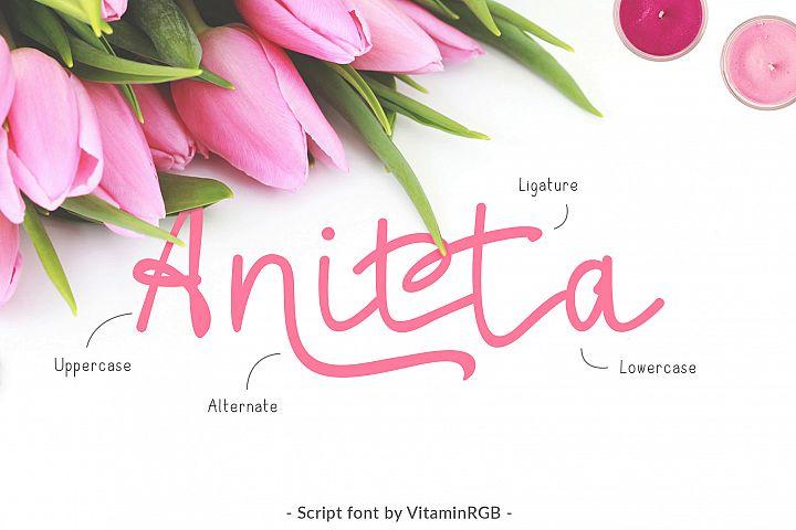 Anitta Script Font