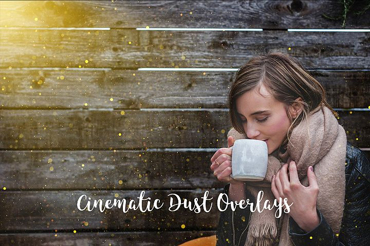 Cinematic Dust Photo Overlays, Bokeh Light Effects