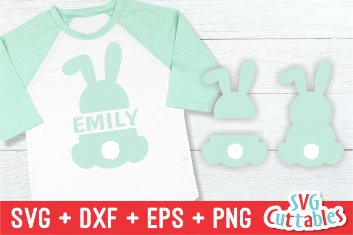 Split Easter Bunny| Easter svg Cut File
