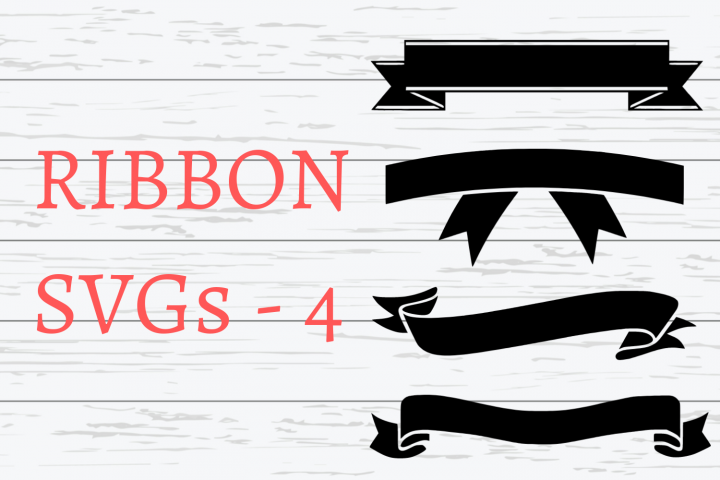 Ribbon SVGs|4 Different Ribbon SVGs