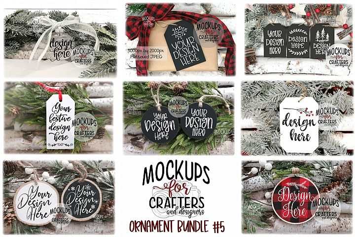Ornament Bundle #5 - EIGHT ORNAMENT MOCK-UPS