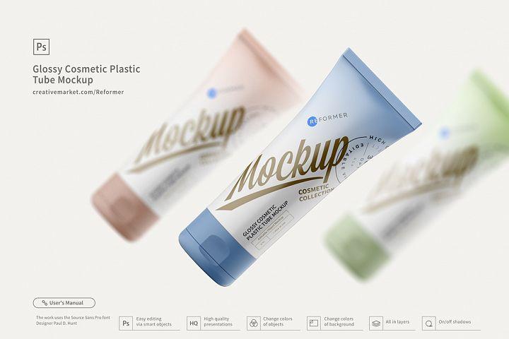 Cosmetic Plastic Tube Mockup Poster