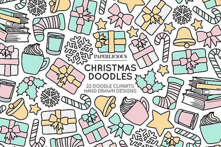 Christmas Doodle Cliparts