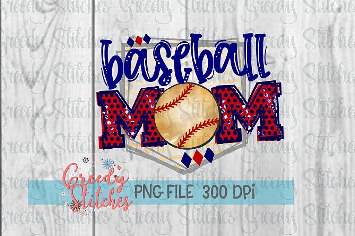 Baseball Mom PNG