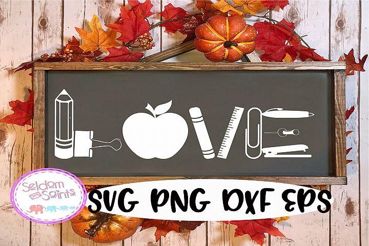 Teacher Love Sign SVG PNG EPS DXF