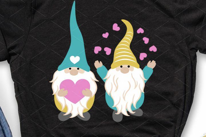 Valentines day Gnomes svg Cute Gnomies Silhouette Cricut