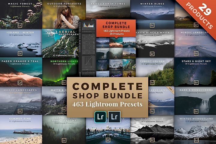 463 Lightroom Presets / 29 Products - Complete Shop Bundle