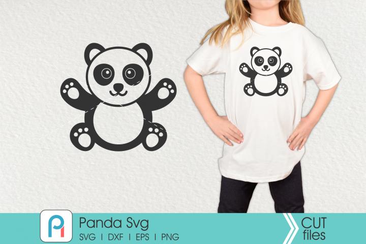 Panda Svg, Panda Clip Art, Panda Cut File