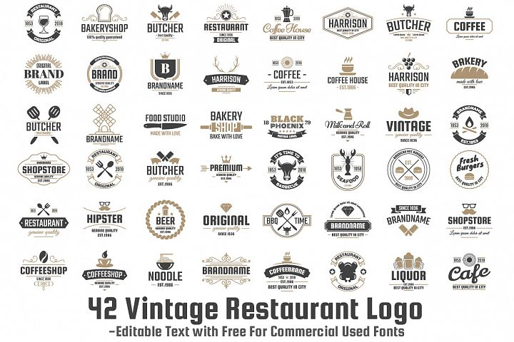 42  Vintage Logo Set example 1