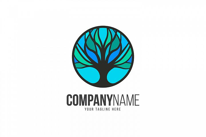 Tree Blue Logo
