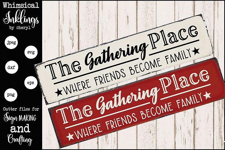 Where Friends Become Family SVG
