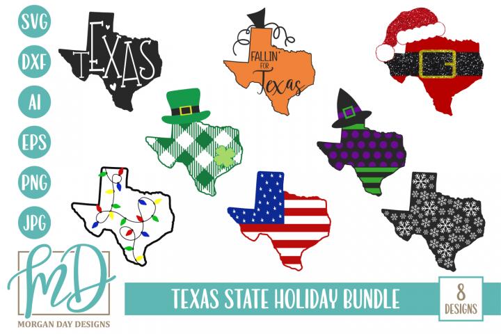 Texas Christmas - State - Texas Holiday Bundle SVG