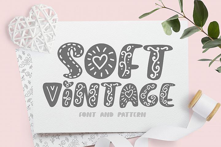 Soft vintage Scandinavian Decor Font