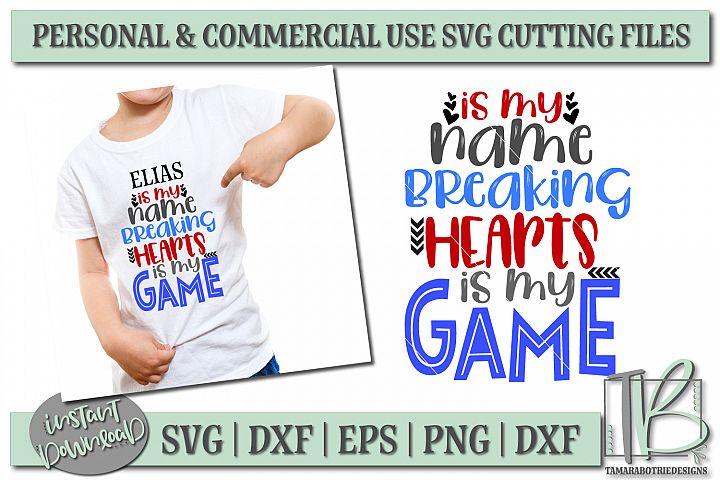 Heart Breaker SVG File, Boys Valentine Cut File