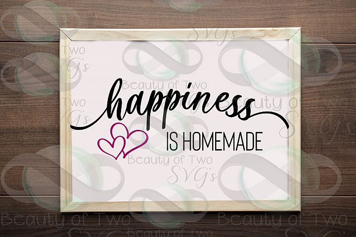 Happiness is Homemade Farmhouse sign design svg and png