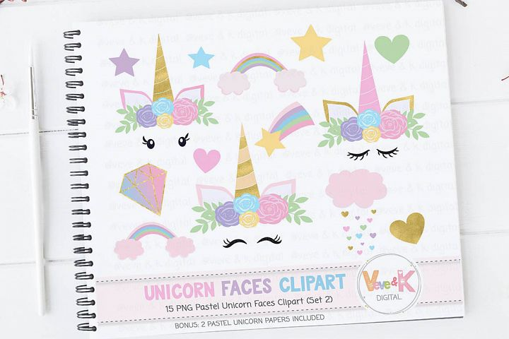 Rainbow Unicorn Clipart, Unicorn Baby Shower Unicorn Clipart