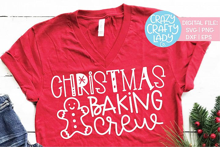Christmas Baking Crew SVG DXF EPS PNG Cut File
