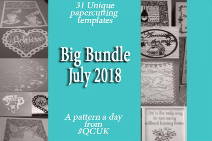 Big Bundle JULY 2018 - 31 Papercutting Templates