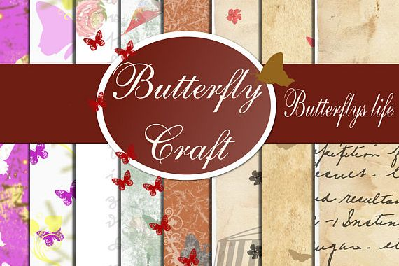 Butterflys Digital Paper, vintage paper, butterfly, Scrapbook album, Love, butterfly print, wedding print paper, low price, St. Valentine